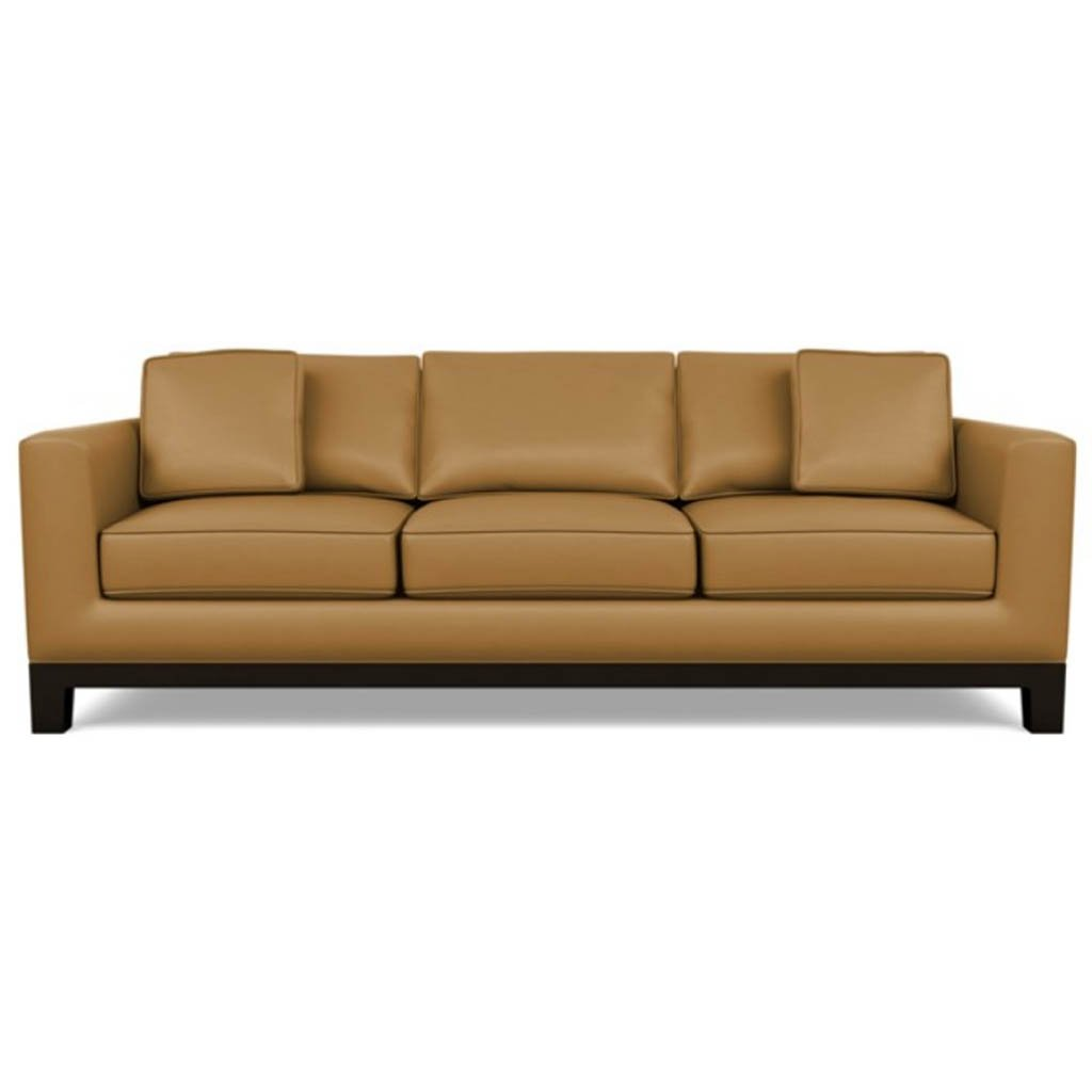 Brooke Leather Sofa by American Leather Capri Butterscotch