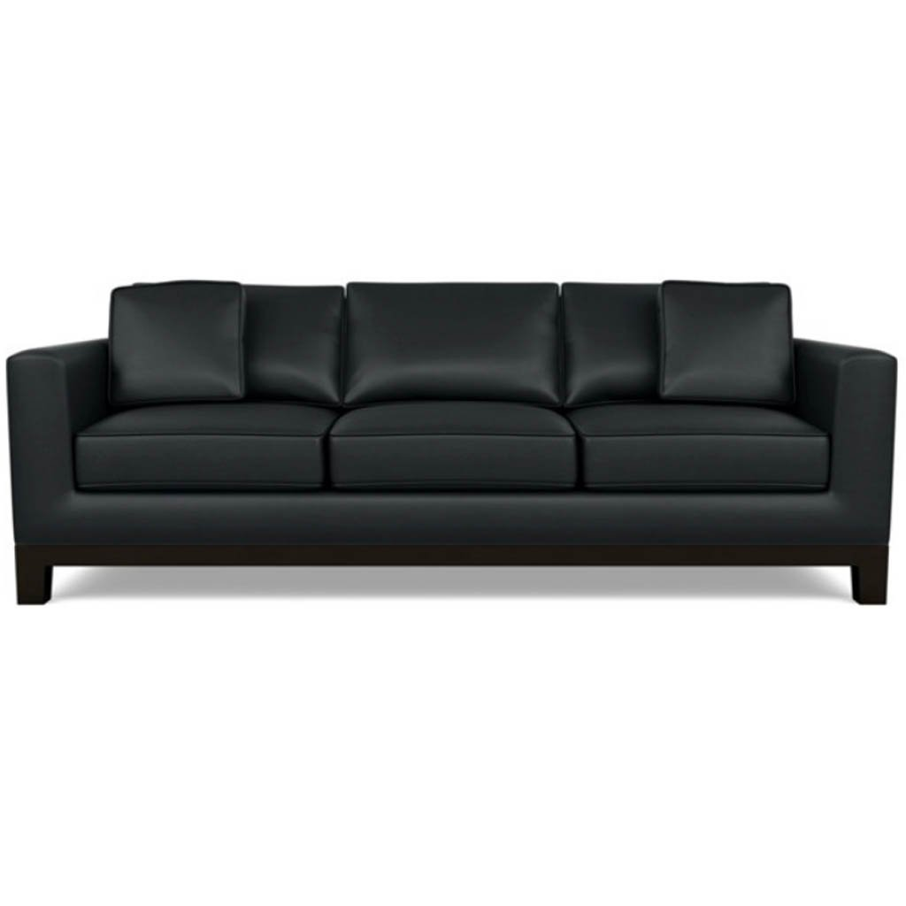 Brooke Leather Sofa by American Leather Capri Onyx