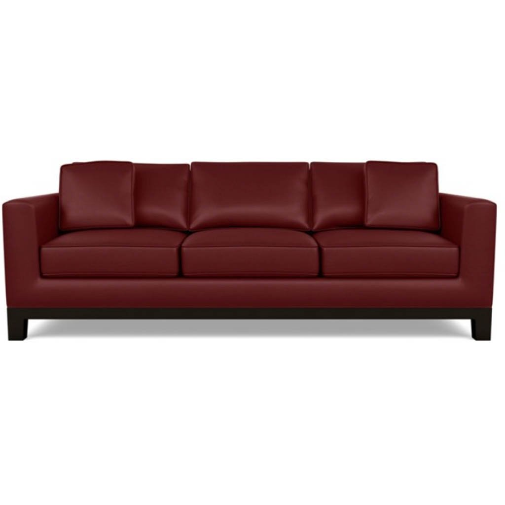 Brooke Leather Sofa by American Leather Capri Poppy