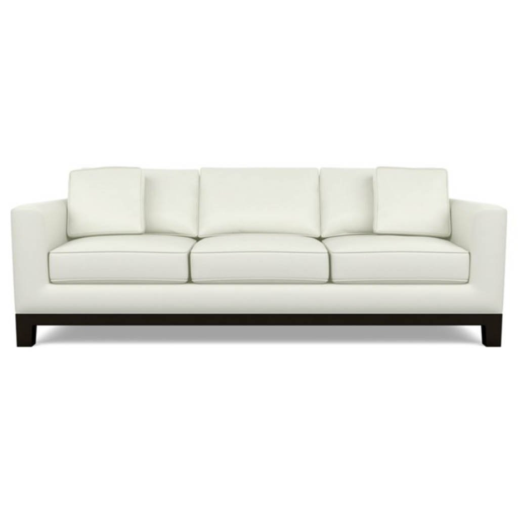Brooke Leather Sofa by American Leather Capri White