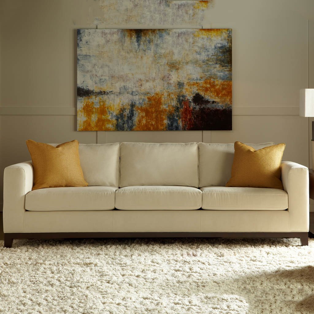 American Leather Brook Three Seat Leather Sofa at Artesanos Design Collection