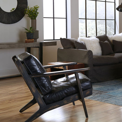 Brooks lounge chairs leather