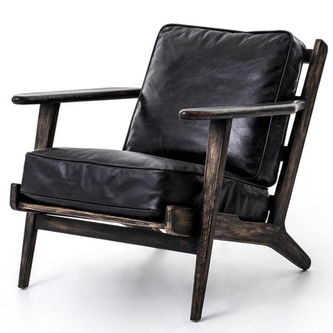 Jack Leather Chair - Ebony Natural