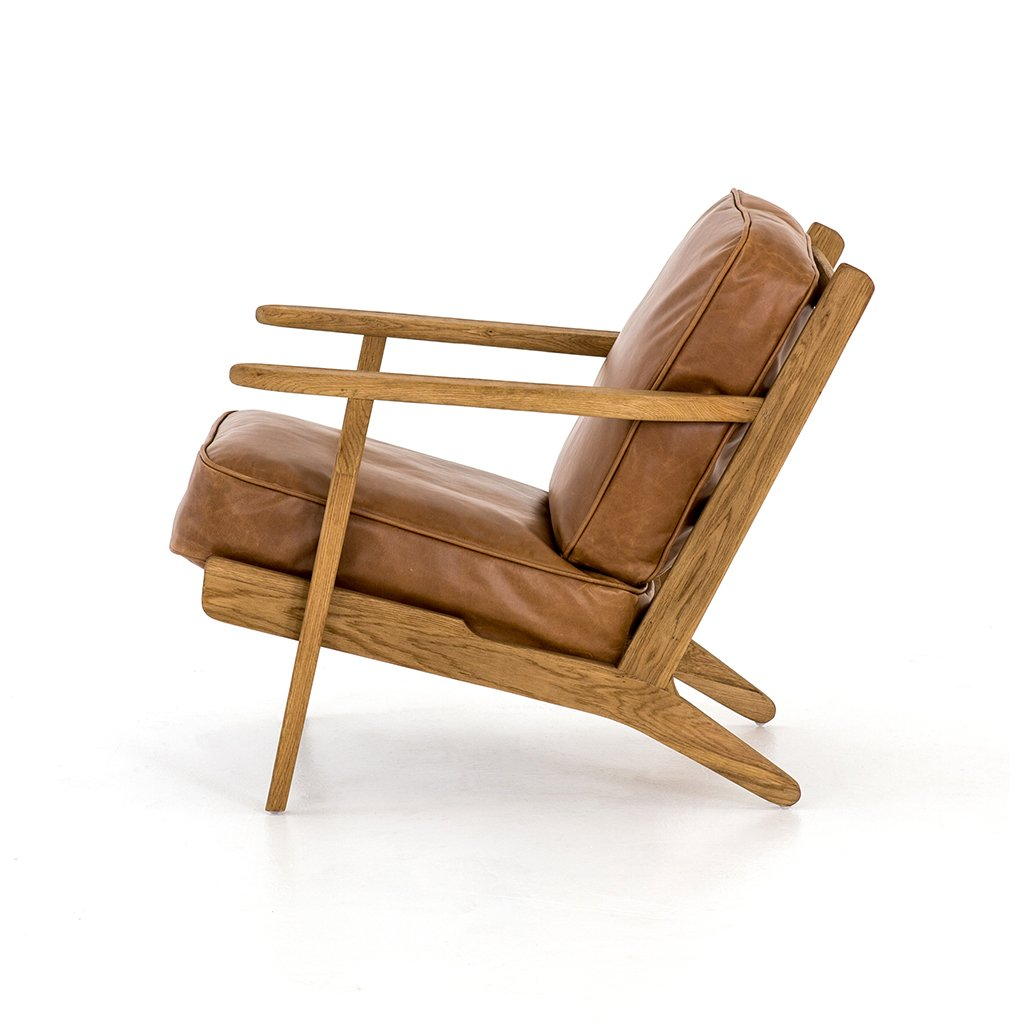 leather adirondack chair
