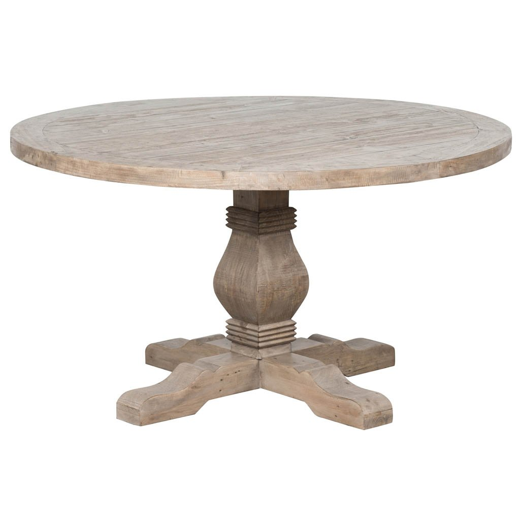 Rustic Caleb Round Dining Table