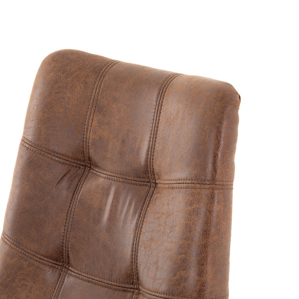 brown leather counter chair