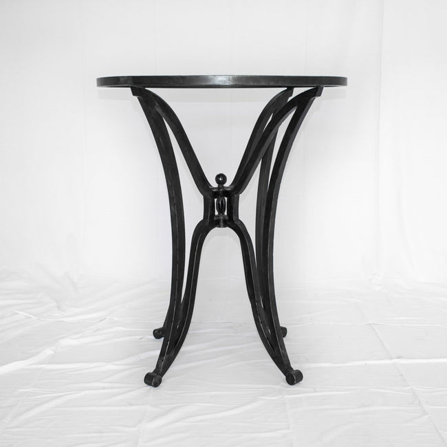 Iron counter height table base canyon