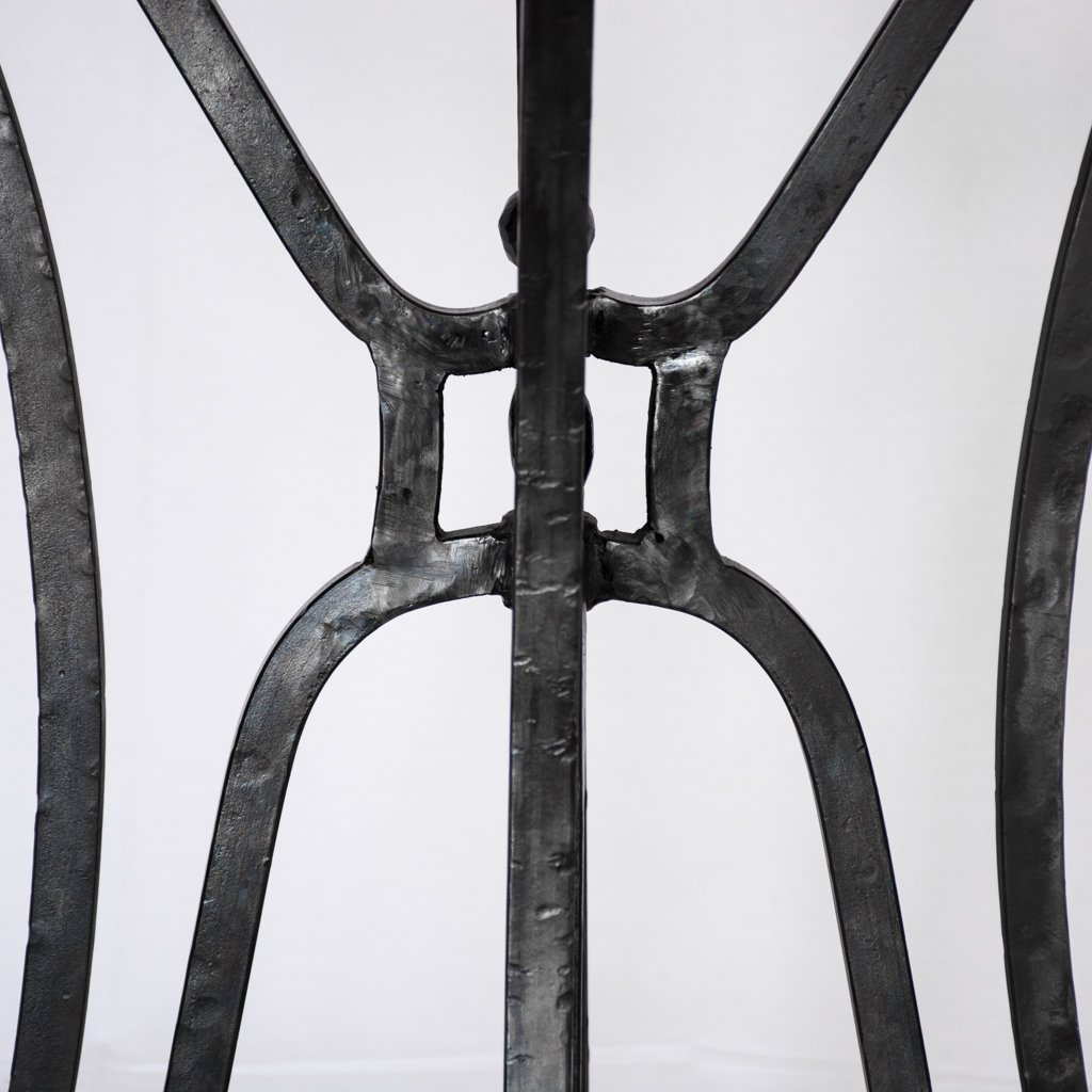 iron and copper dining table artesanos design collection