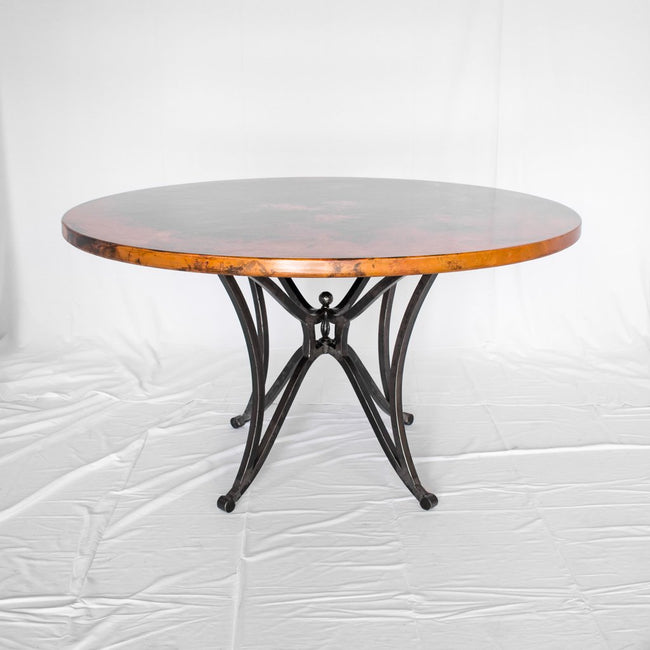 Artesanos Canyon Copper Top Dining Table with Iron Base