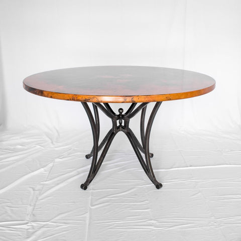 Miners Dining Table - Black & Natural Copper