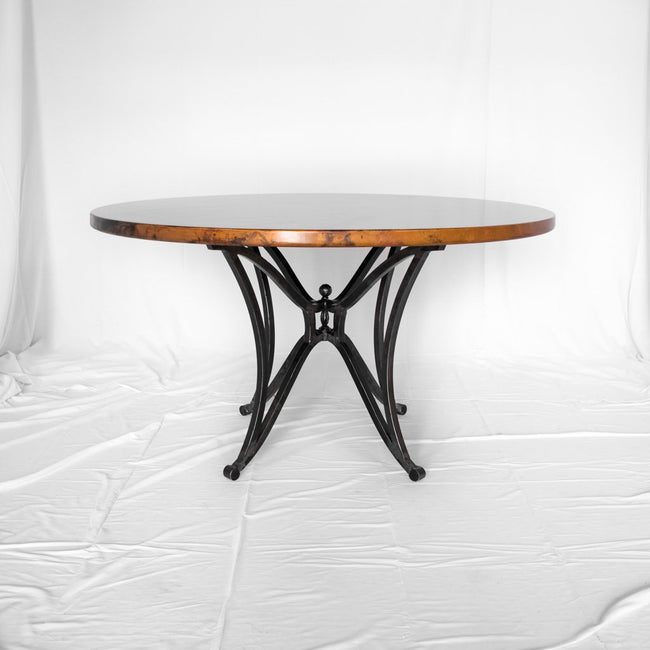Canyon Copper and Iron dining table natural finish
