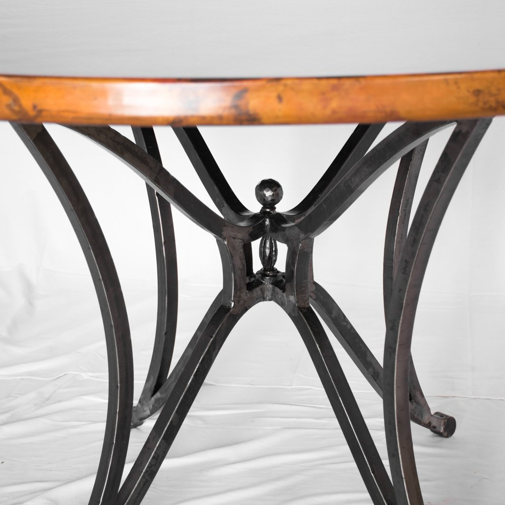 iron and copper dining table canyon artesanos