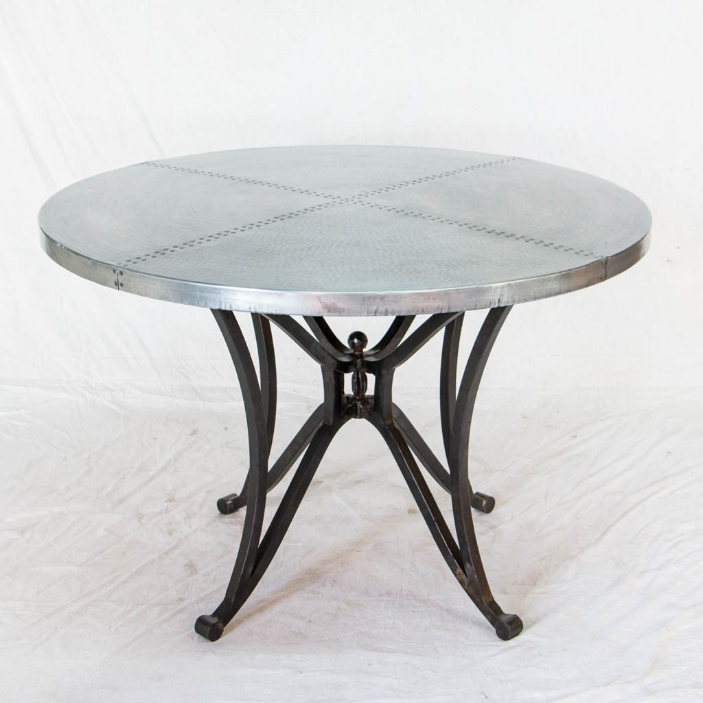 Canyon Zinc Top Dining Table