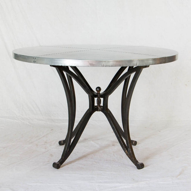 Artesanos Canyon Zinc Top Dining Table