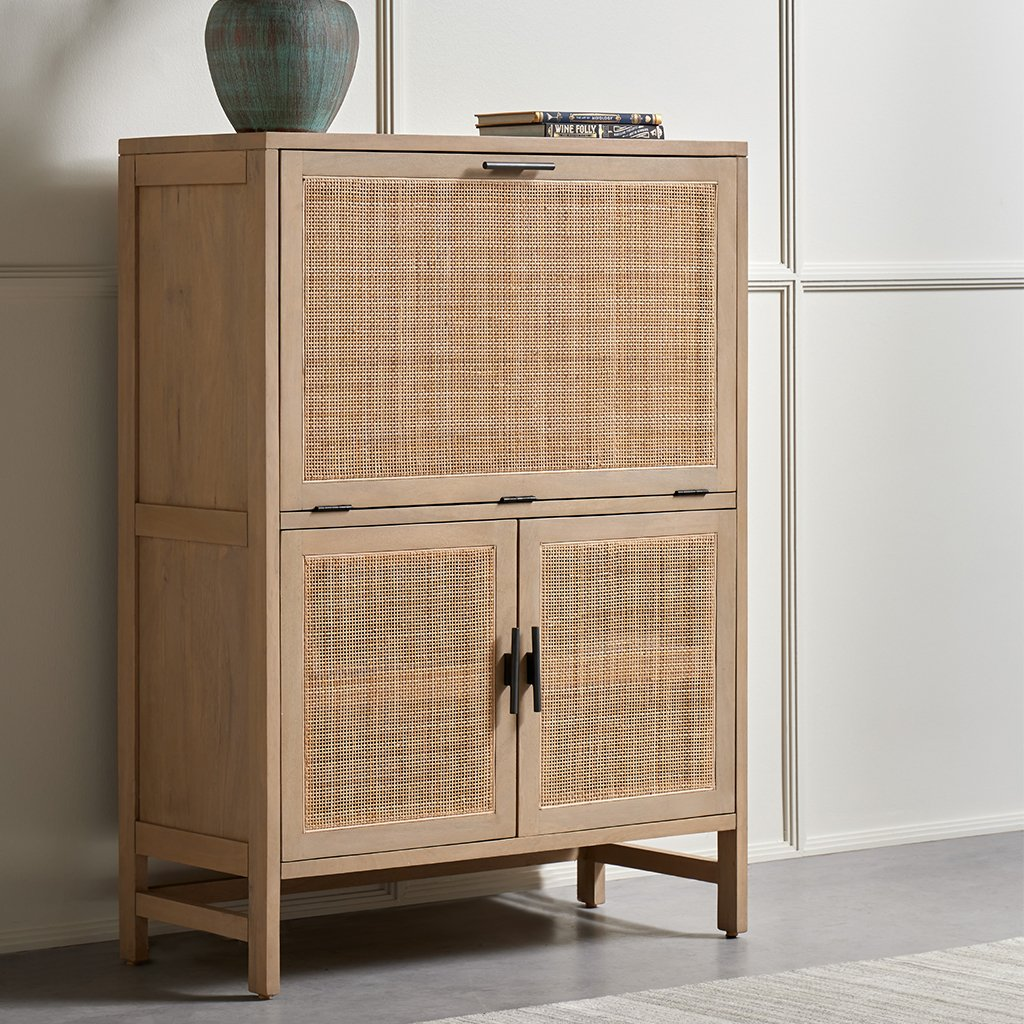 Four Hands Caprice Bar Cabinet - Natural Mango