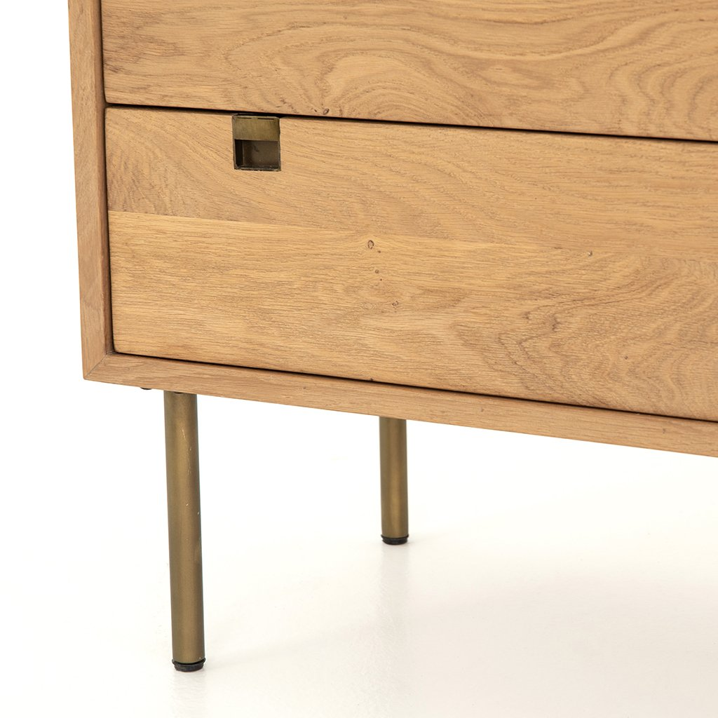 Carlisle 5 Drawer Oak Dresser Four Hands IFAL-029 Corner Detail
