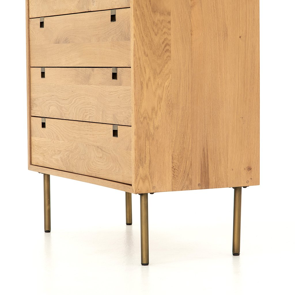 Carlisle 5 Drawer Oak Dresser Four Hands IFAL-029 Bottom Detail