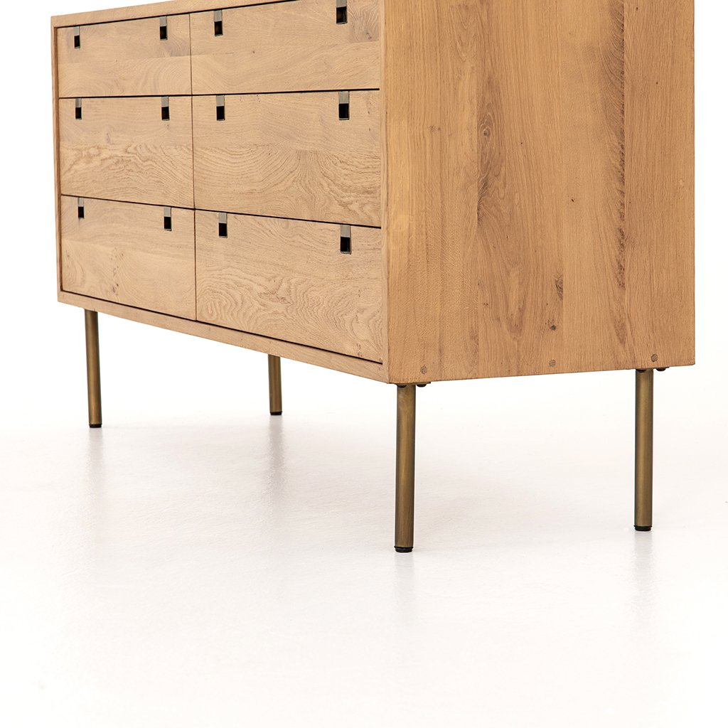 Carlisle 6 Drawer Oak Dresser Drawer View