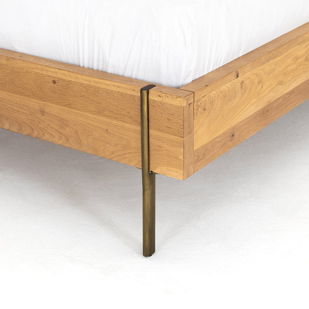 Carlisle Oak Bed Four Hands Furniture IFAL-026 Corner Detail