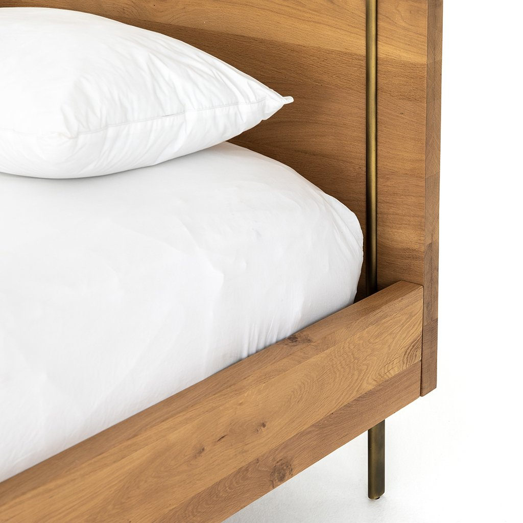 Carlisle Oak Bed Four Hands Furniture IFAL-026 Headboard
