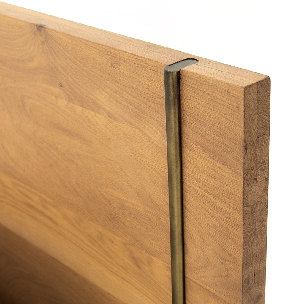 Carlisle Oak Bed Four Hands Furniture IFAL-026 Headboard Detail