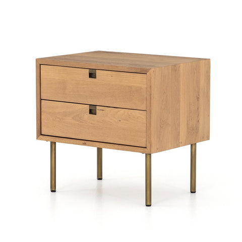 Olivia Nightstand - Antique Brass