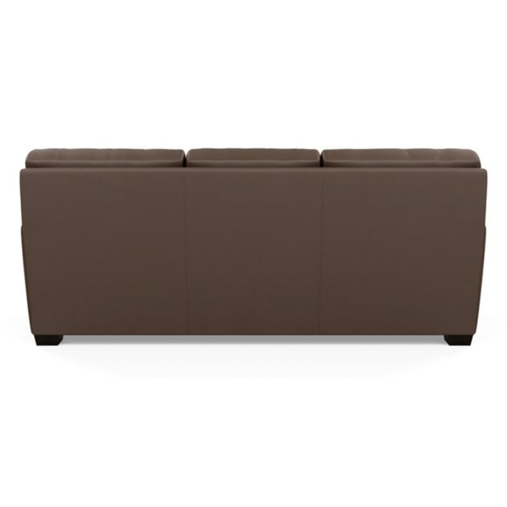 Carson Three Seat Leather Sofa by American Leather back view