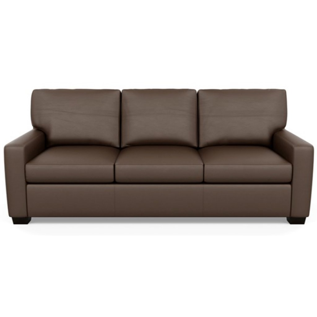 Carson Three Seat Leather Sofa by American Leather in Bali Brandy