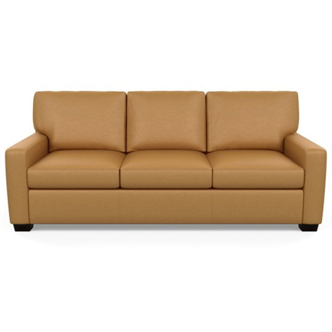 Carson Three Seat Leather Sofa by American Leather in Bali Butterscotch