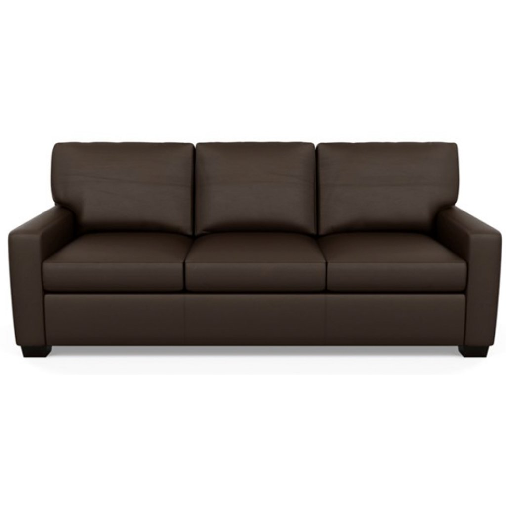 Carson Three Seat Leather Sofa by American Leather in Bali Mocha