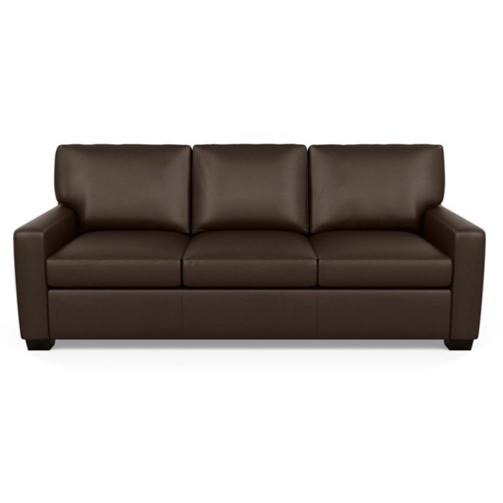 Carson Three Seat Leather Sofa by American Leather in Capri Branch