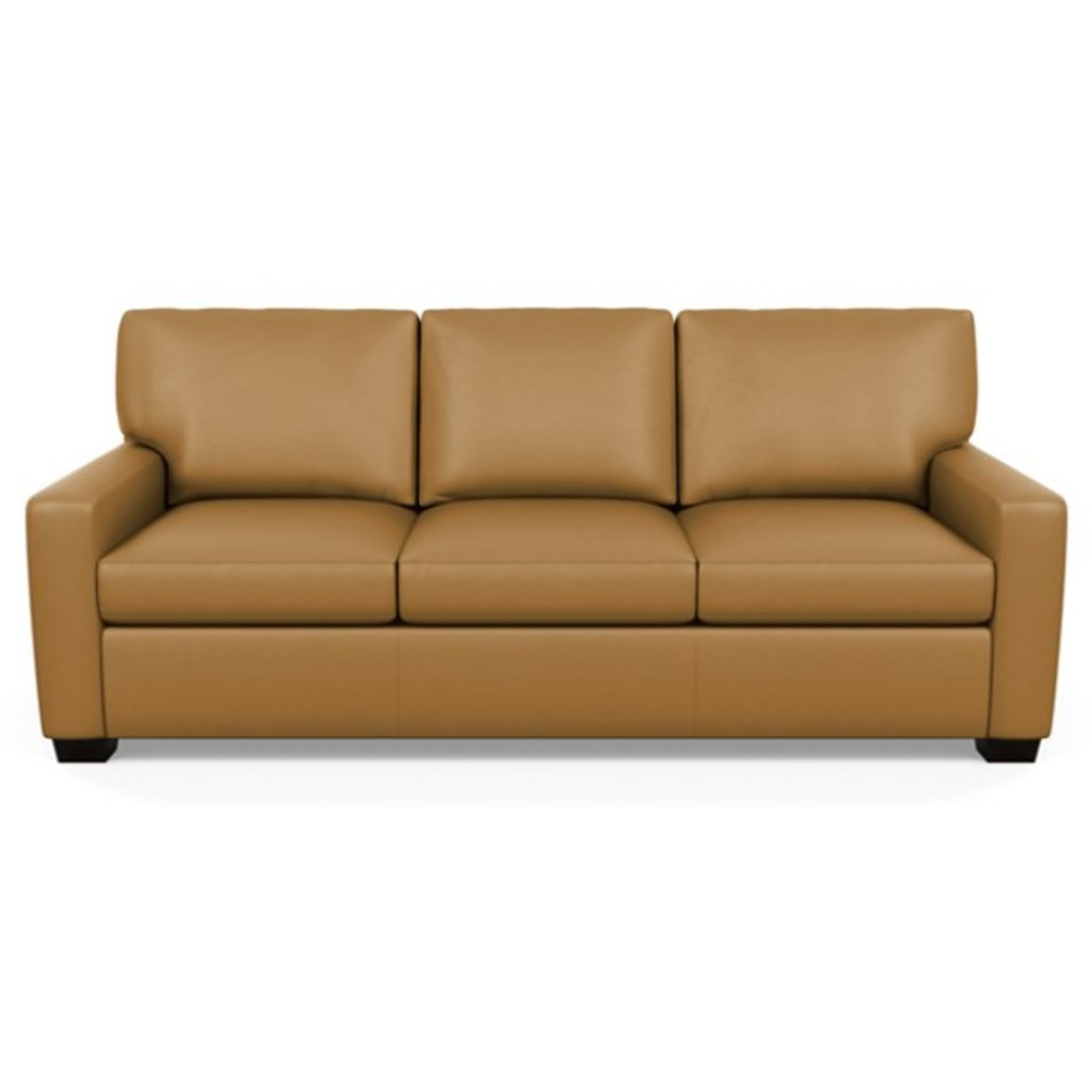 Carson Three Seat Leather Sofa by American Leather in Capri Butterscotch
