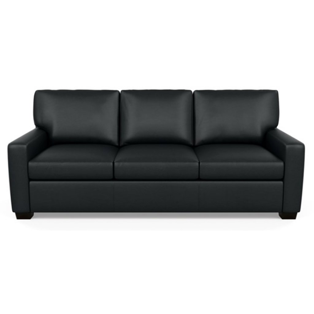 Carson Three Seat Leather Sofa by American Leather in Capri Onyx