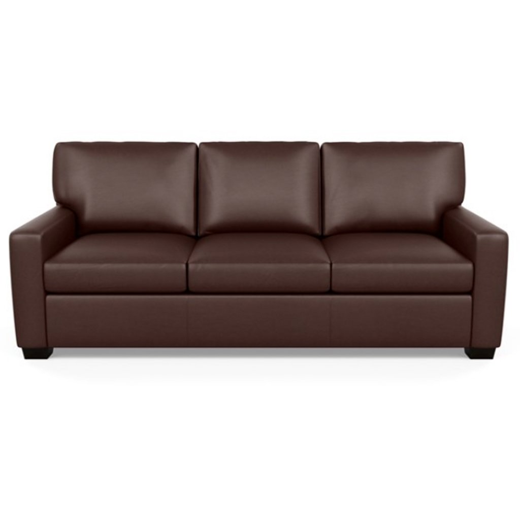 Carson Three Seat Leather Sofa by American Leather in Capri Russet