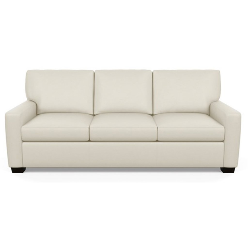 Carson Three Seat Leather Sofa by American Leather in Capri Sand Dollar