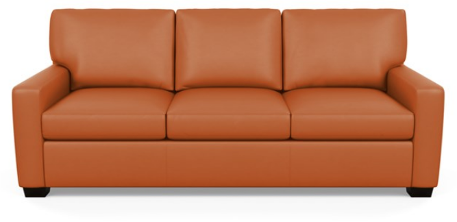 Carson Three Seat Leather Sofa by American Leather in Capri Sunrise