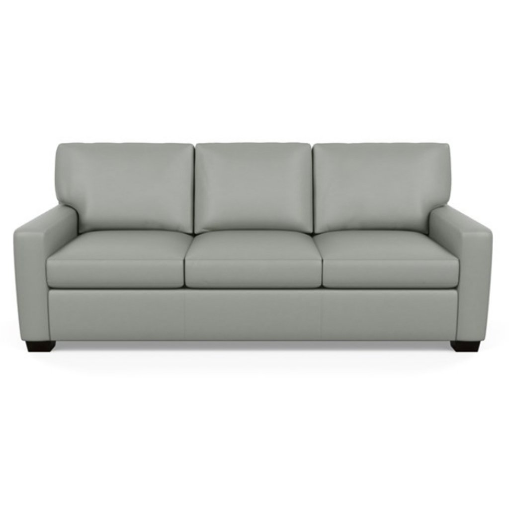 Carson Three Seat Leather Sofa by American Leather in Capri Thundercloud