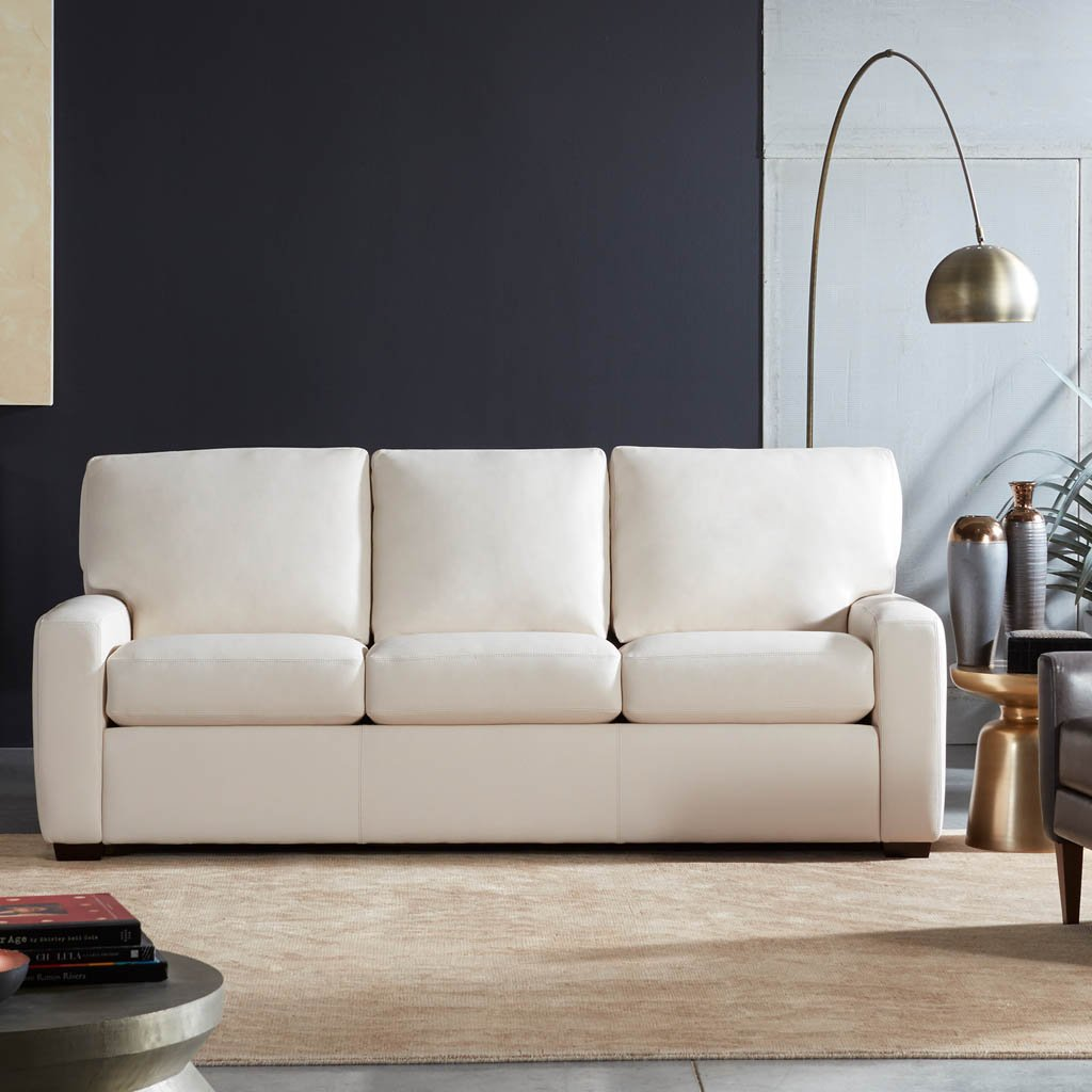 American Leather Carson Three Seat Leather Sofa