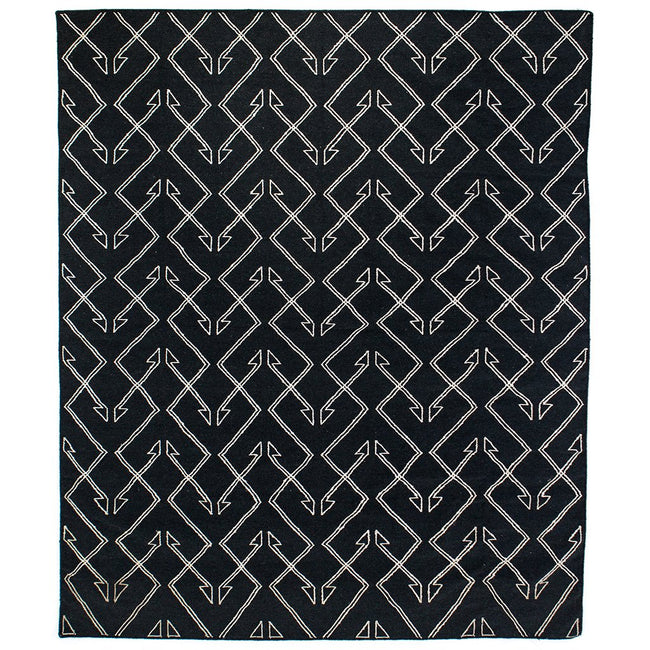 Charcoal Patterned Rug