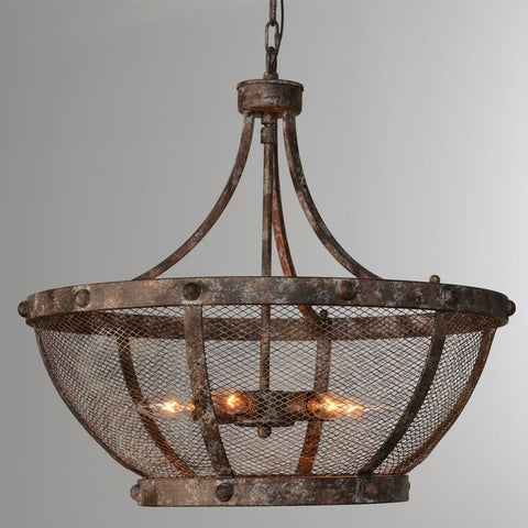 Ava Linear Chandelier - Antiqued Iron