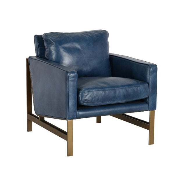 Chazzie Blue Club Chair