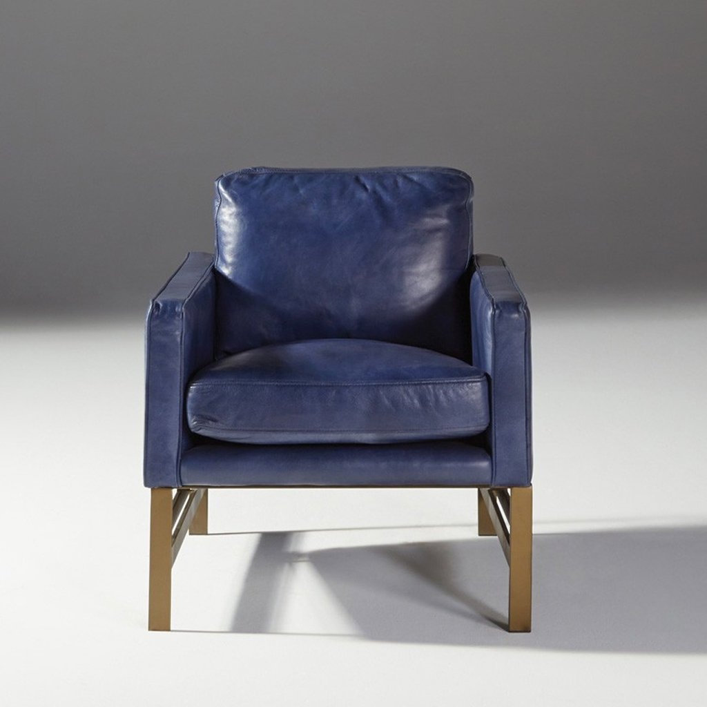 Chazzie Blue Club Chair at Artesanos Design Collection