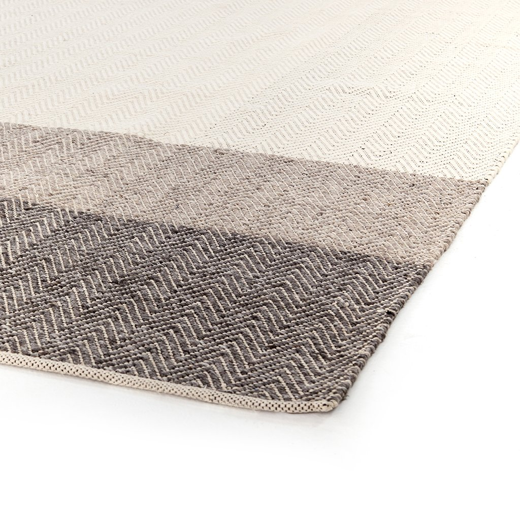 large area rug color block