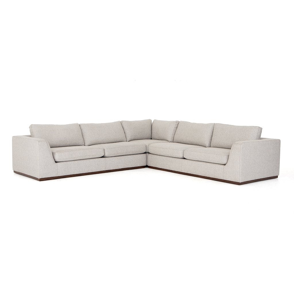 Colt Sectional Sofa - Aldred Silver