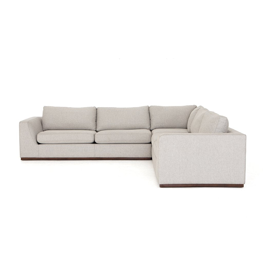 Side View Colt Sectional Sofa - Aldred Silver