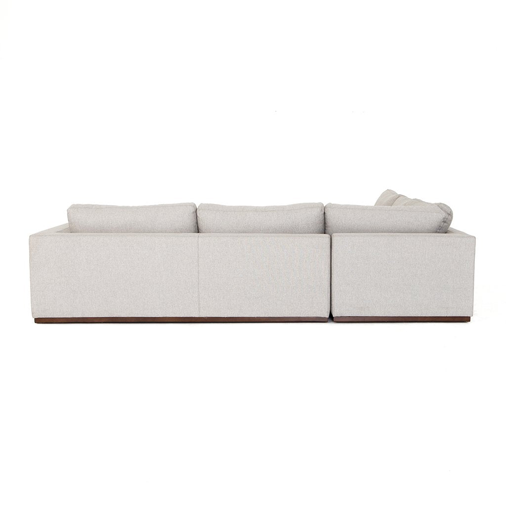 Back View Colt Sectional Sofa - Aldred Silver