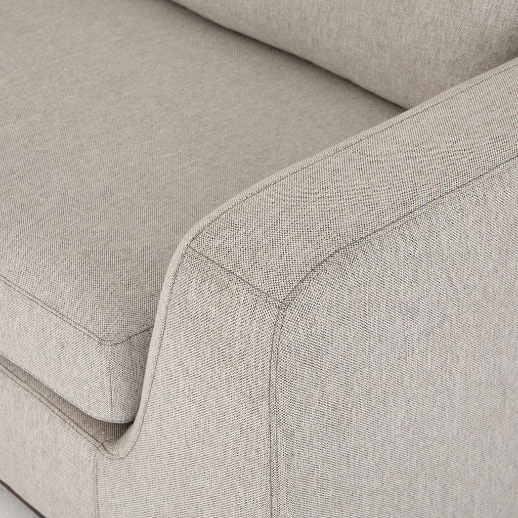Arm Detail Colt Sectional Sofa - Aldred Silver