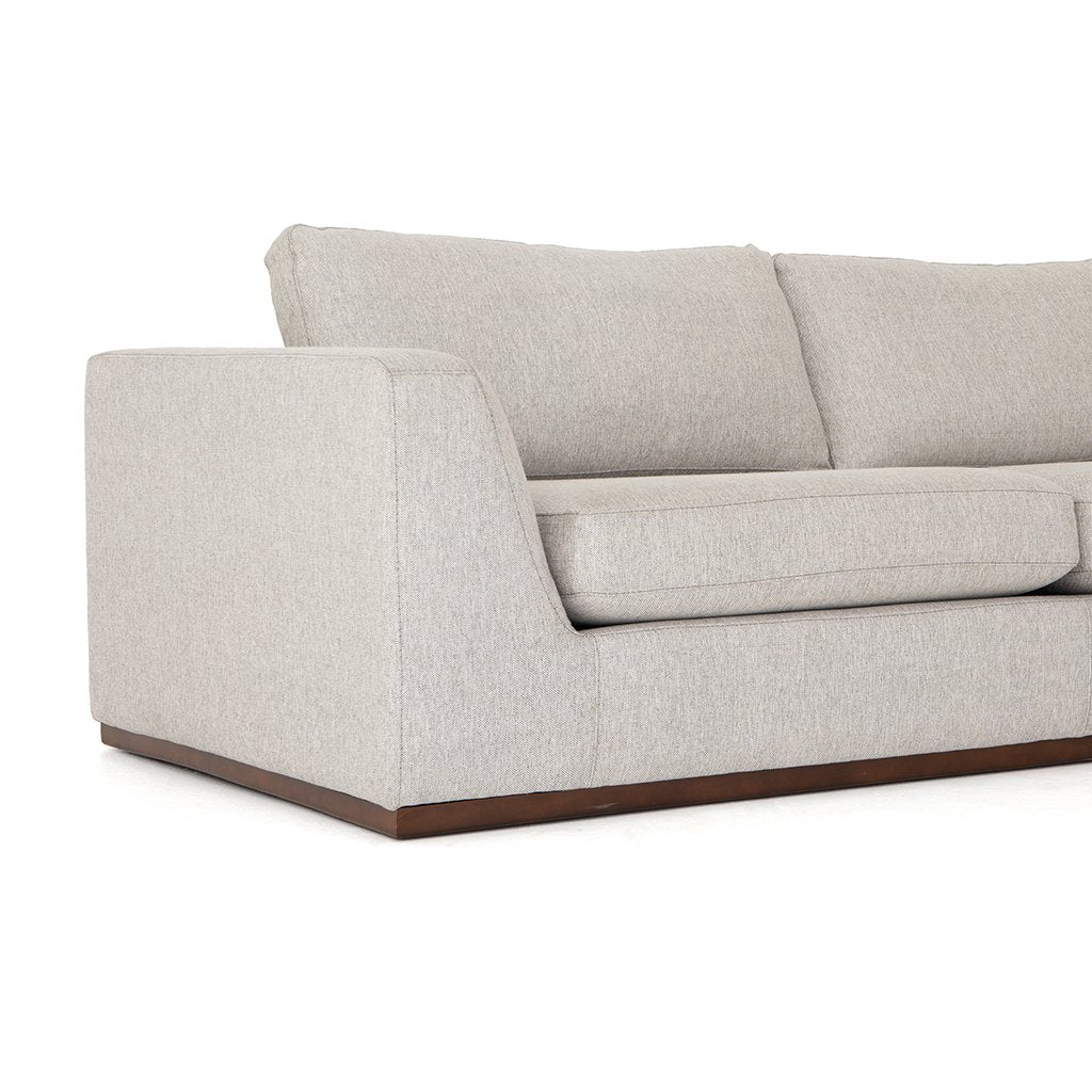 Arm View Colt Sectional Sofa - Aldred Silver