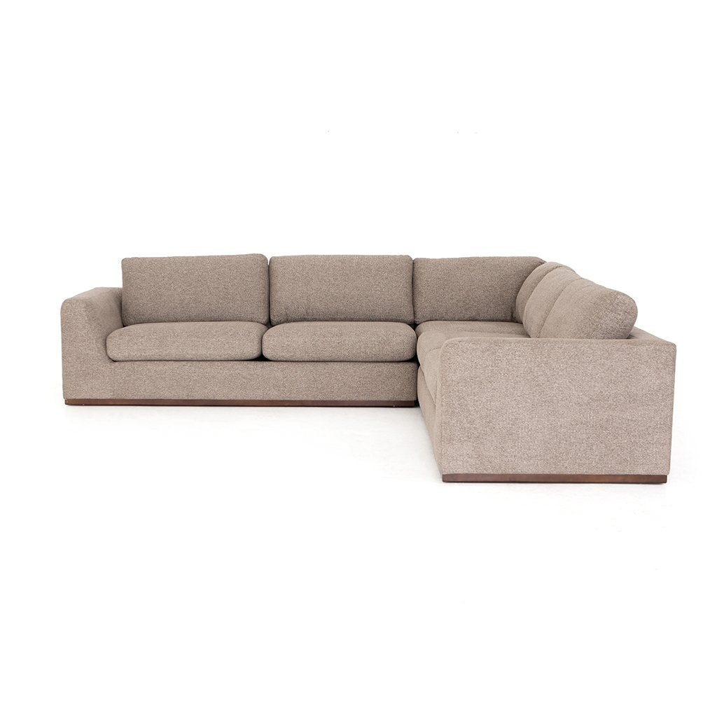 Colt Fabric Sectional Sofa - Gaston Pewter Side View