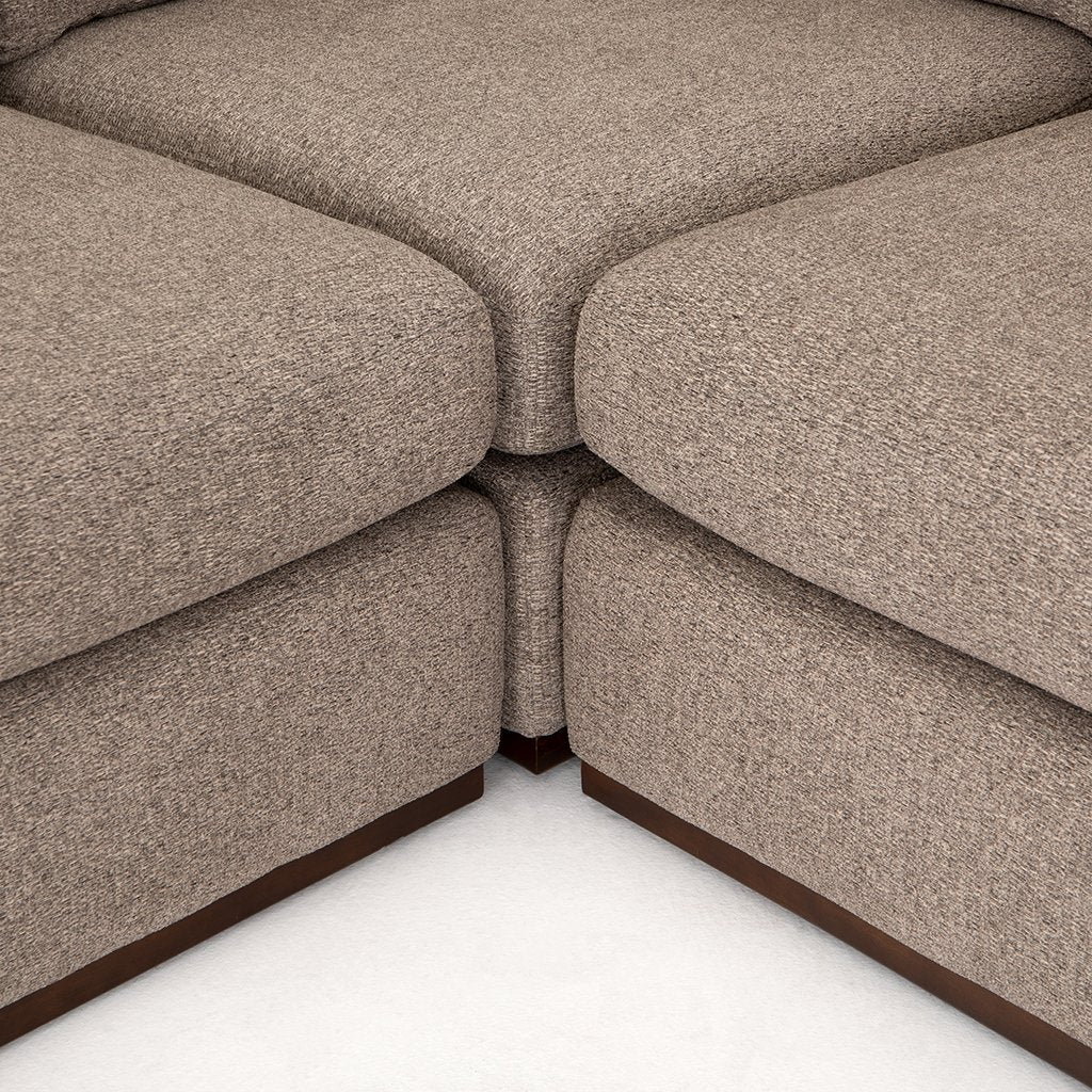 Colt Fabric Sectional Sofa - Gaston Pewter Sectional Detail
